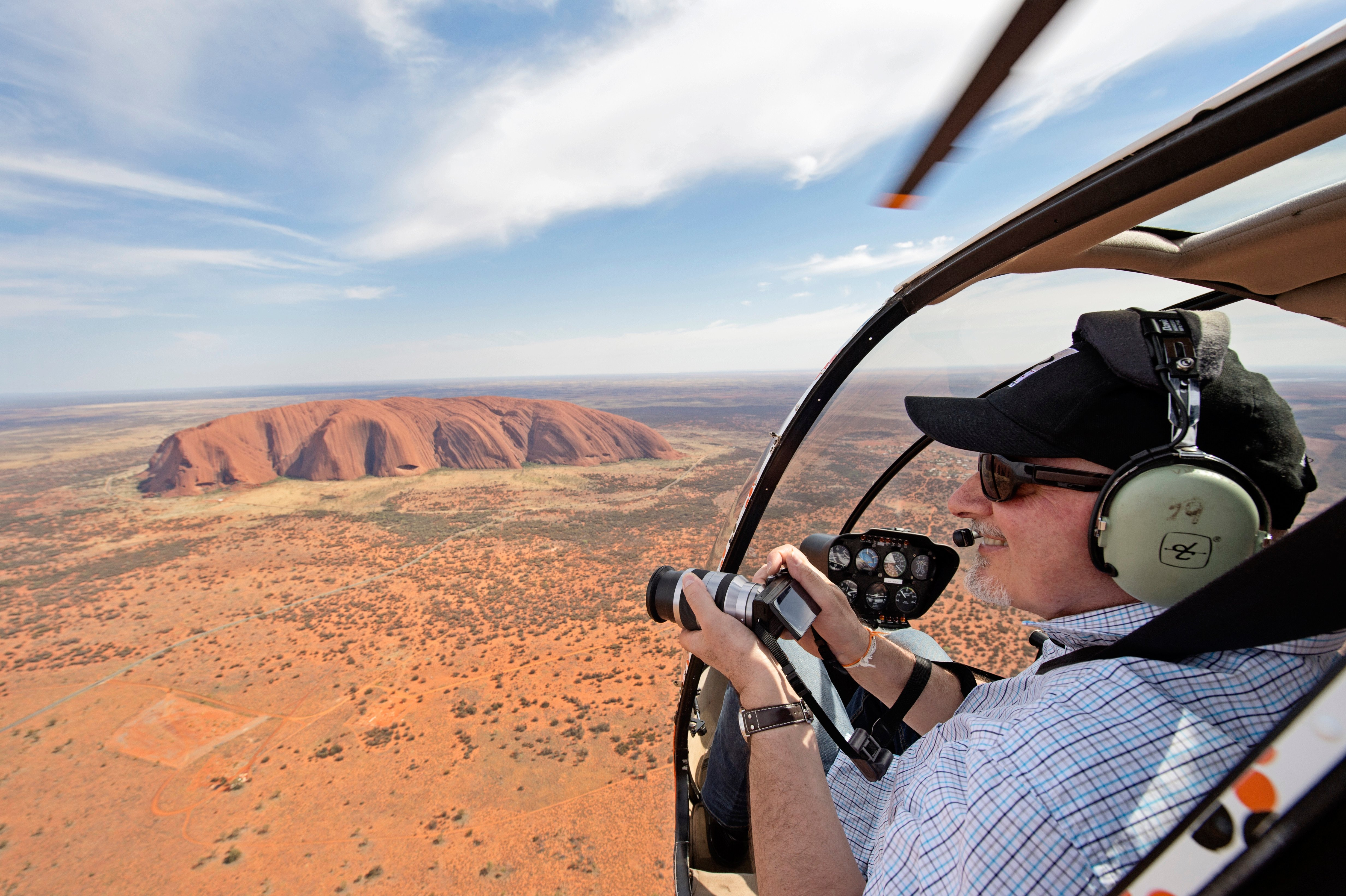 Uluru from a helicopter