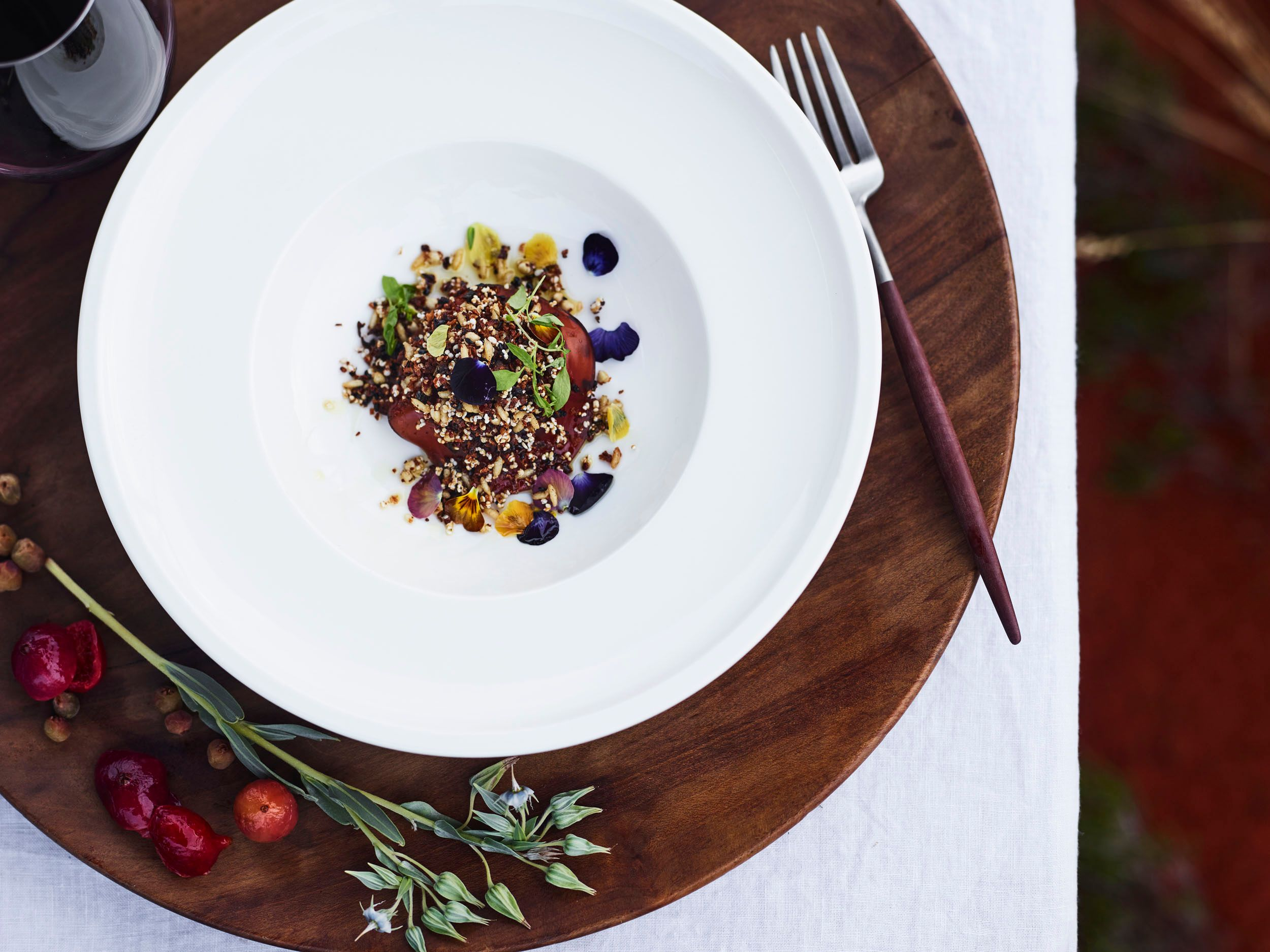 fine dining at Ayers Rock Resort Pressed Wallaby dish