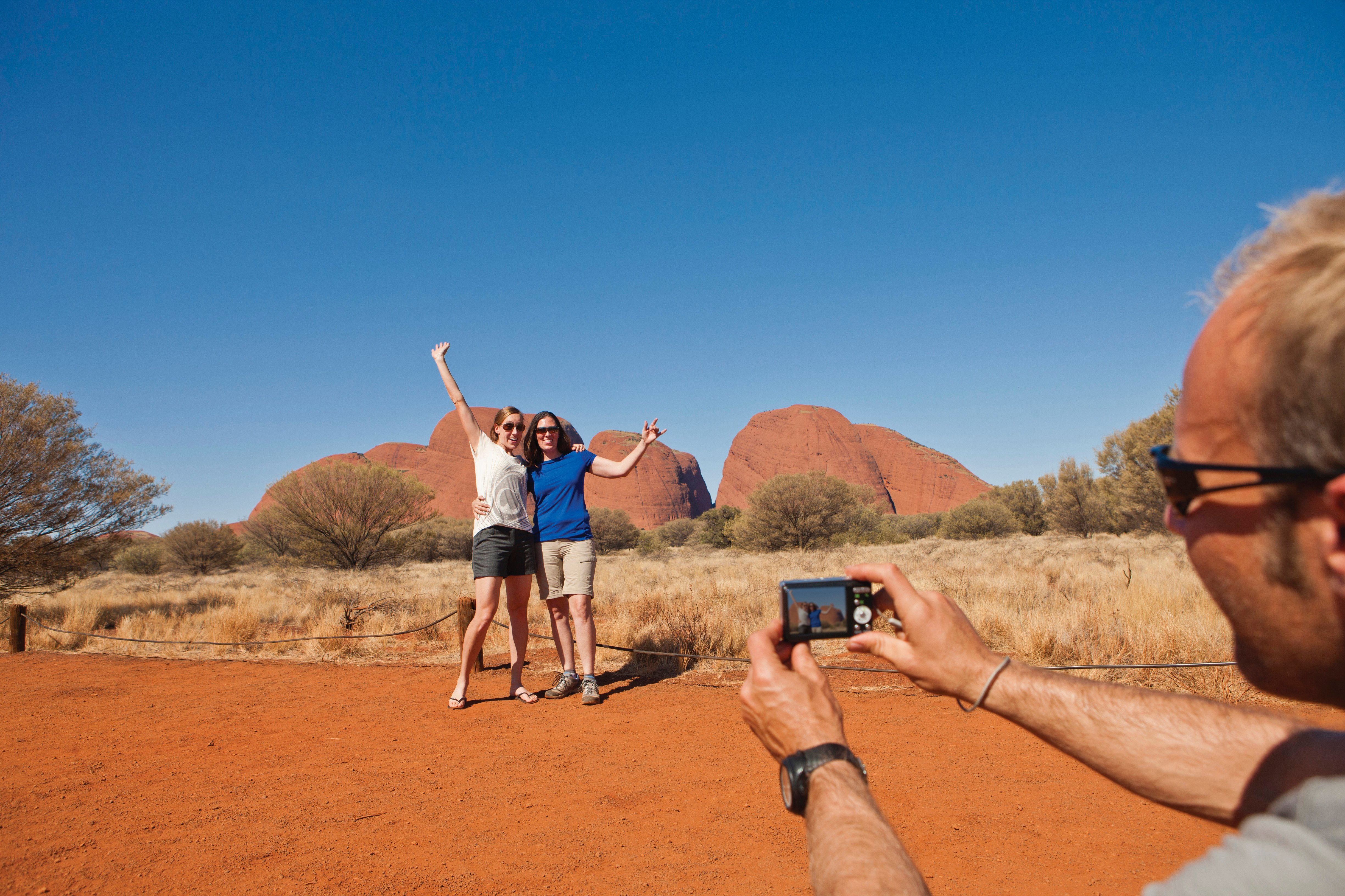 taking a photo in the outback
