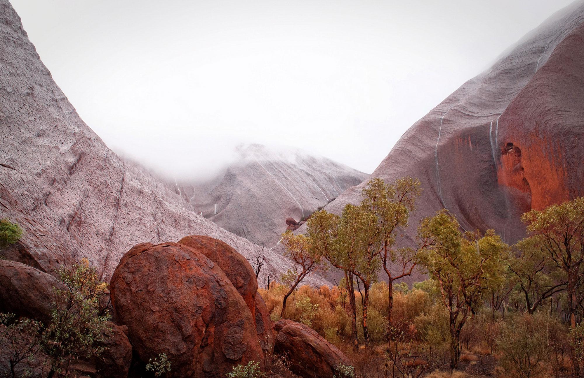cliff-face of Uluru
