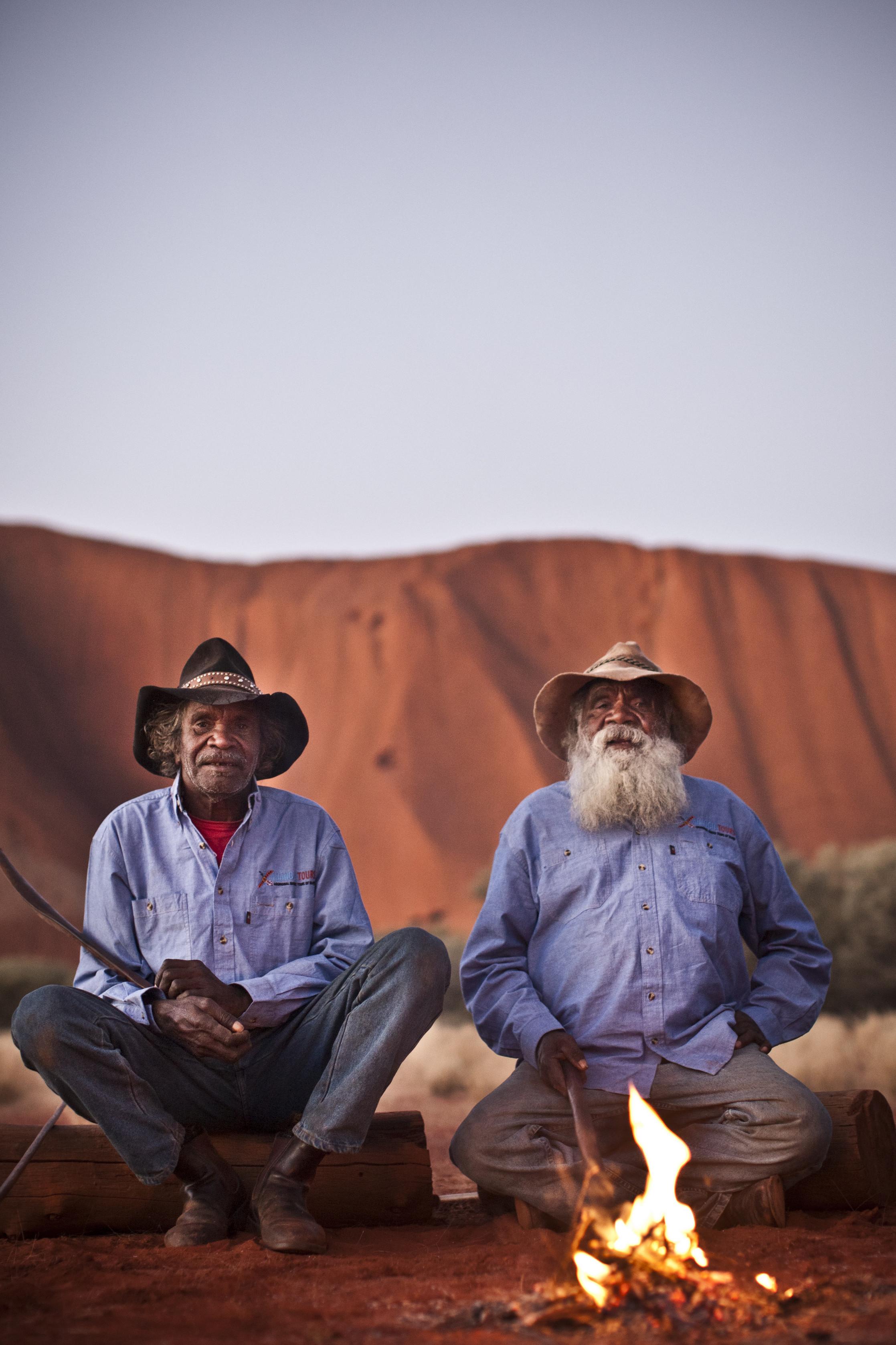 two indigenous men