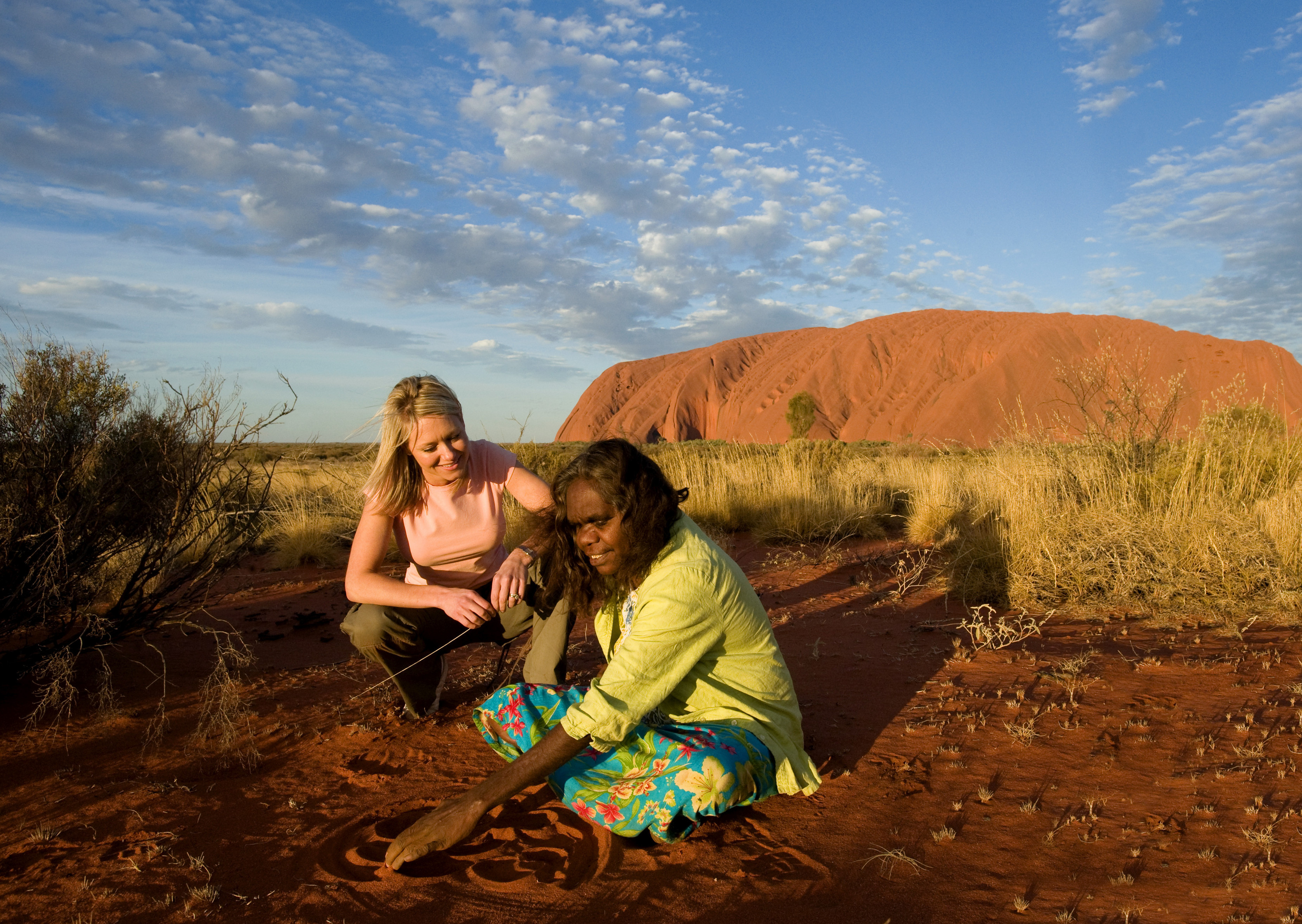 two people in the outback