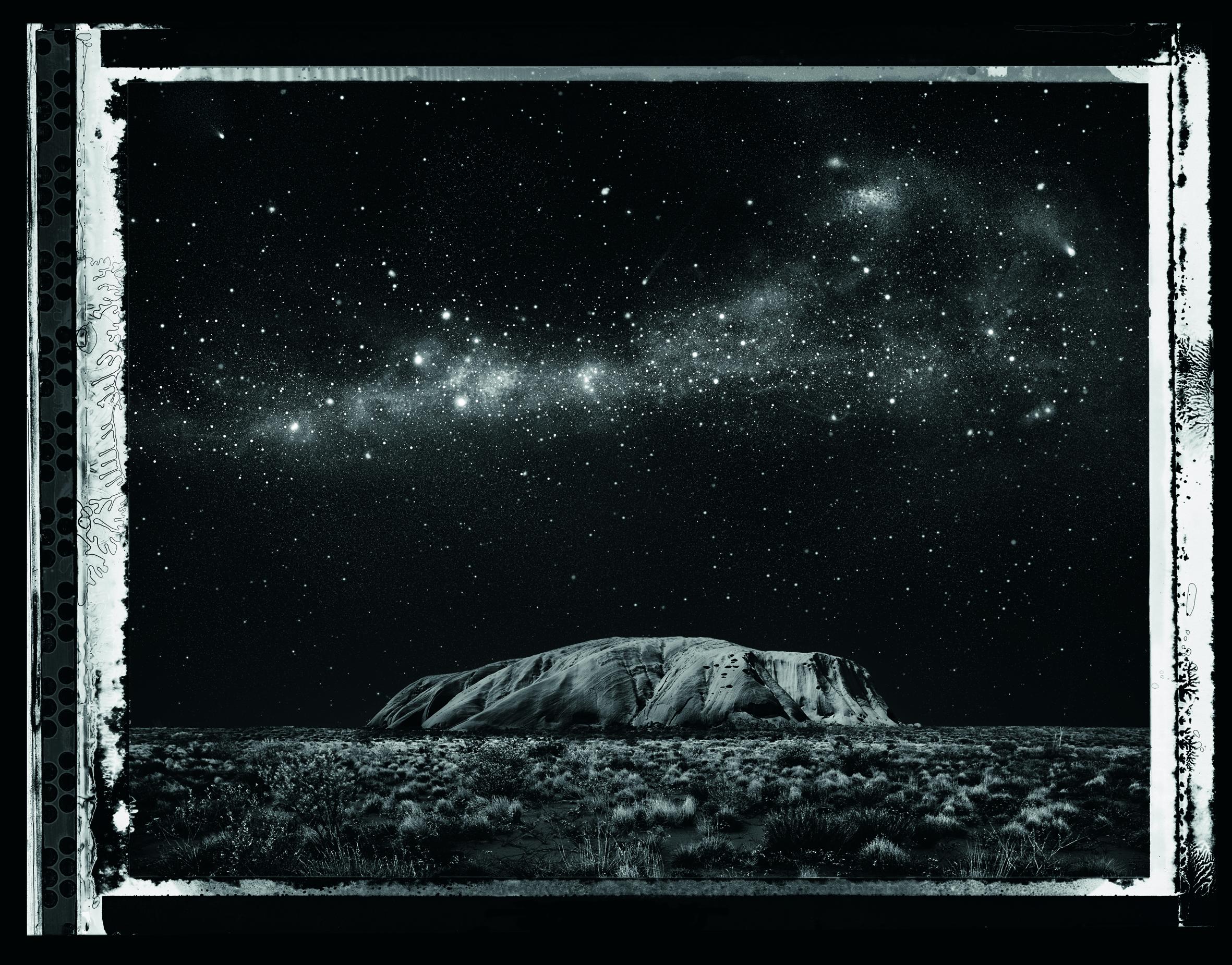Uluru at night, artistic rendition