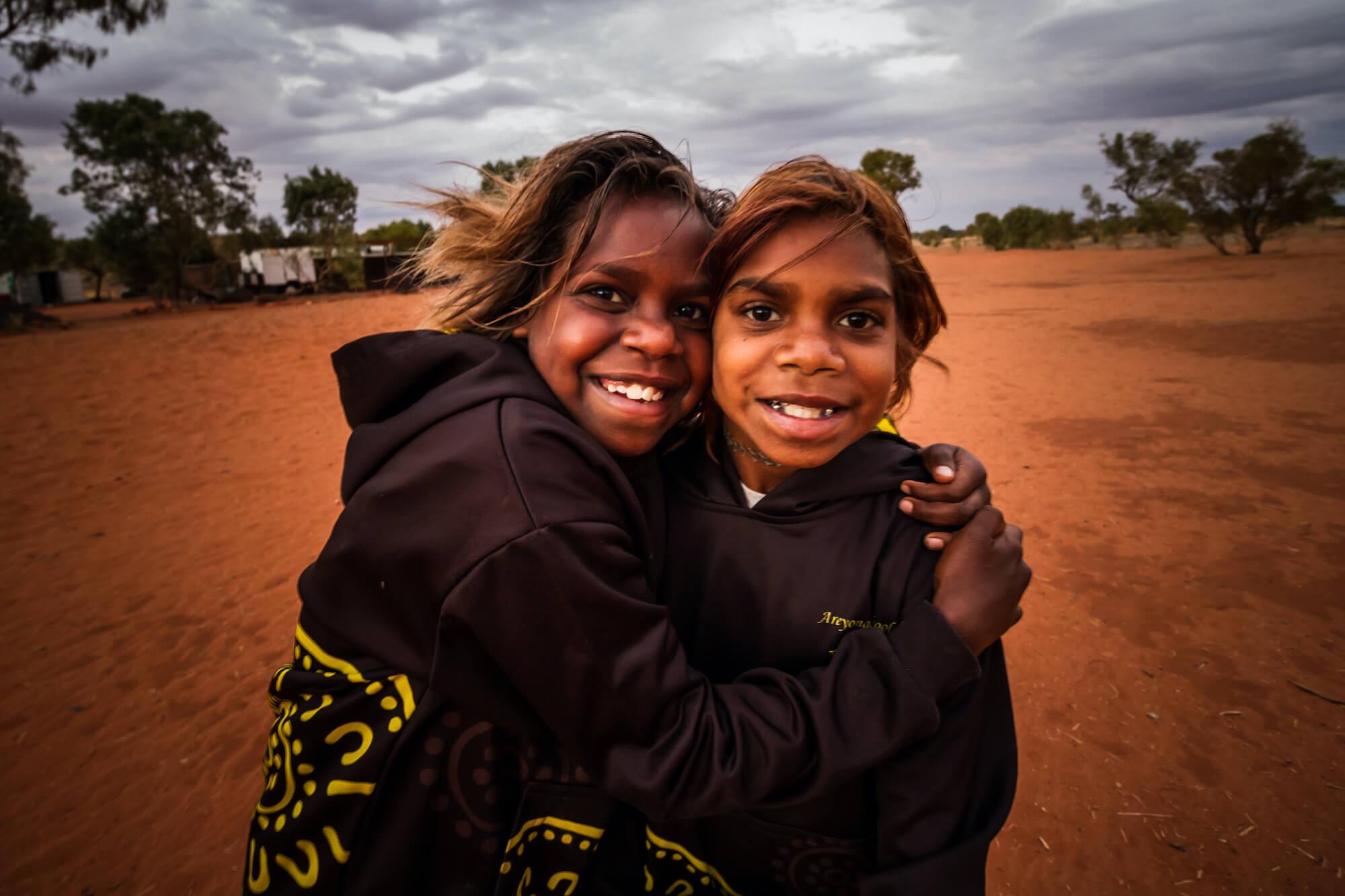 Anangu Communities Foundation two girls