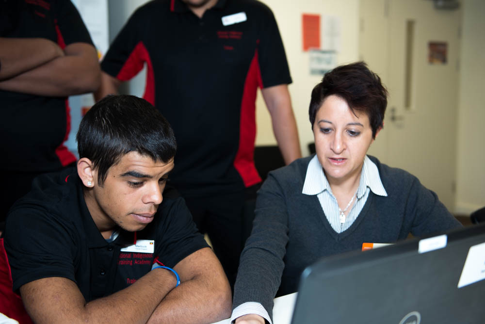A trainee learns while participating in NITA
