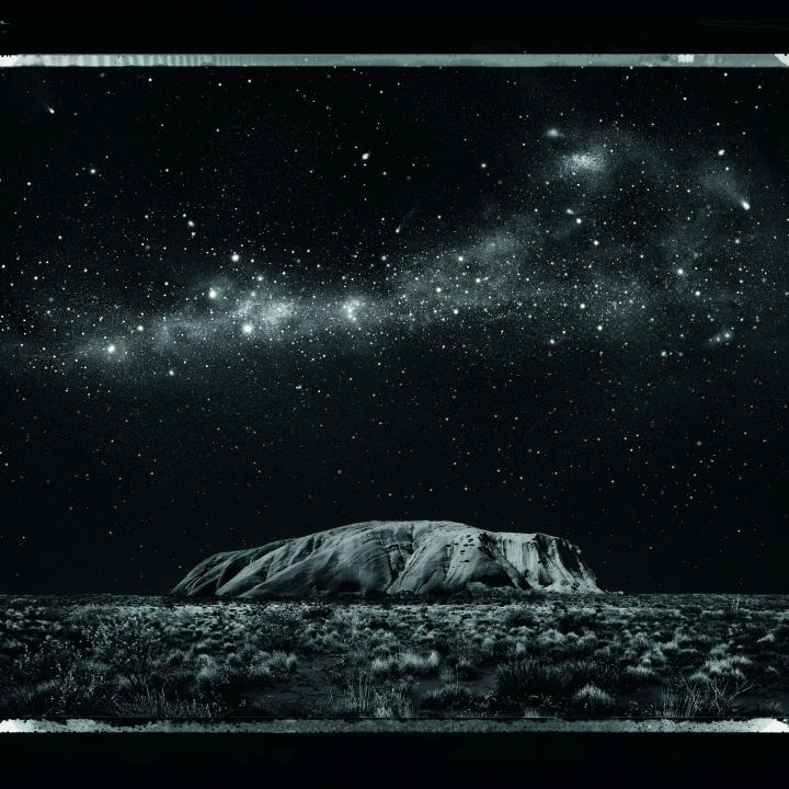 Uluru at night, artistic rendition