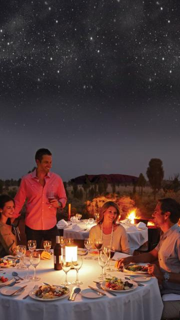 Dining under a starry sky at Sounds of Silence Ayers Rock