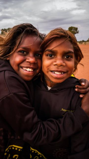 Anangu Communities Foundation two girls