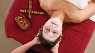 a woman getting a massage at a spa