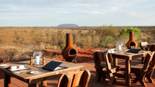 dinner table outside in the outback