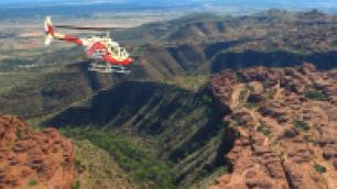 helicopter over the outback